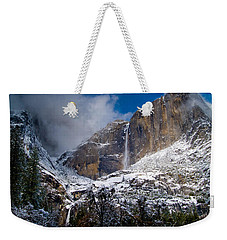 Winter At Yosemite Falls Weekender Tote Bag by Bill Gallagher