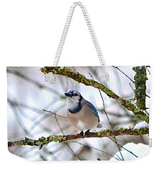 Winter Jay Weekender Tote Bag by Deena Stoddard