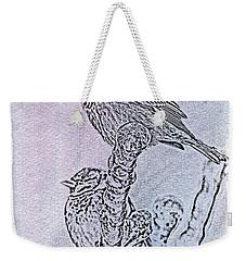 Winter Sparrows 2 Weekender Tote Bag by Betty LaRue