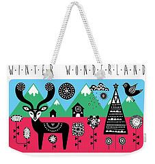 Winter Wonderland Weekender Tote Bag by Susan Claire
