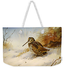 Winter Woodcock Weekender Tote Bag by Mountain Dreams