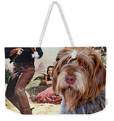 Wirehaired Pointing Griffon - Korthals Griffon Art Canvas Print - The Searchers Movie Poster Weekender Tote Bag by Sandra Sij