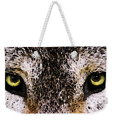 Wolf Eyes By Sharon Cummings Weekender Tote Bag by Sharon Cummings