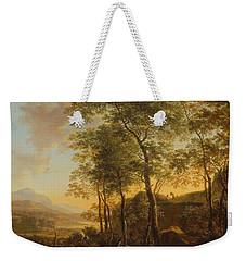 Wooded Hillside With A Vista Weekender Tote Bag by Jan Both