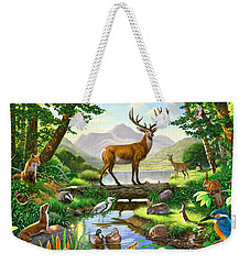 Woodland Harmony Weekender Tote Bag by Chris Heitt