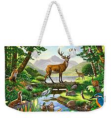 Woodland Harmony Weekender Tote Bag by Chris Heitt