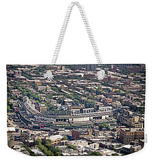 Wrigley Field - Home Of The Chicago Cubs Weekender Tote Bag by Adam Romanowicz