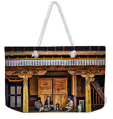 Yak Butter Tea Break At The Potala Palace Weekender Tote Bag by Joan Carroll