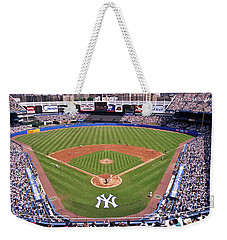 Yankee Stadium Weekender Tote Bag by Allen Beatty