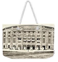 Yankee Stadium Weekender Tote Bag by Bill Cannon