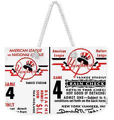 Yankees 4th Straight - Modern Weekender Tote Bag by Benjamin Yeager