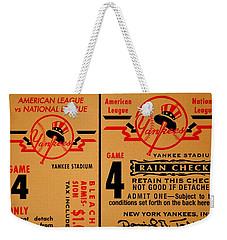 Yankees 4th Straight - Vintage Weekender Tote Bag by Benjamin Yeager