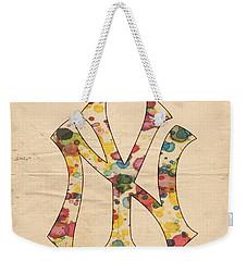 Yankees Vintage Art Weekender Tote Bag by Florian Rodarte