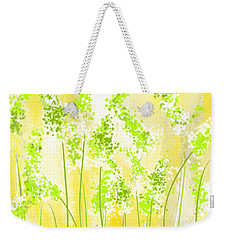 Yellow And Green Art Weekender Tote Bag by Lourry Legarde