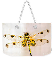 Yellow Dragonfly Pantala Flavescens Weekender Tote Bag by Iris Richardson