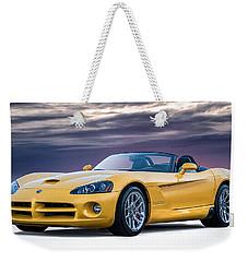 Yellow Viper Convertible Weekender Tote Bag by Douglas Pittman
