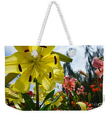Yellow Whopper Lily 1 Weekender Tote Bag by Jacqueline Athmann