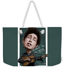 Young Bob Dylan Weekender Tote Bag by Andre Koekemoer