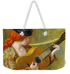Young Spanish Woman With A Guitar Weekender Tote Bag by Pierre Auguste Renoir