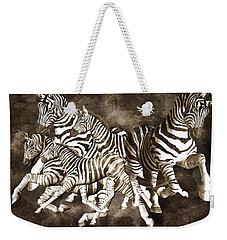 Zebras Weekender Tote Bag by Betsy Knapp