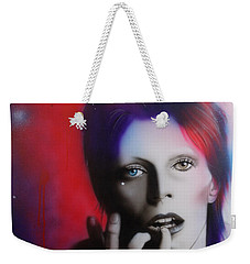 David Bowie - ' Ziggy Stardust ' Weekender Tote Bag by Christian Chapman