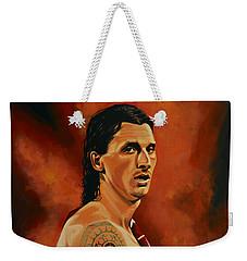 Zlatan Ibrahimovic Painting Weekender Tote Bag by Paul Meijering