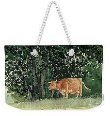 Cow In Pasture Weekender Tote Bag by Winslow Homer