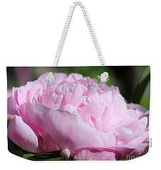 Peony Named Shirley Temple Weekender Tote Bag by J McCombie