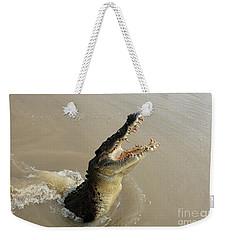 Salt Water Crocodile 2 Weekender Tote Bag by Bob Christopher