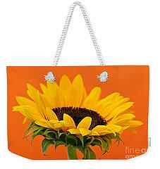 Sunflower Closeup Weekender Tote Bag by Elena Elisseeva