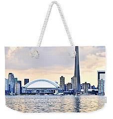 Toronto Skyline Weekender Tote Bag by Elena Elisseeva