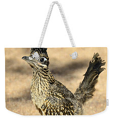 A Baby Roadrunner  Weekender Tote Bag by Saija  Lehtonen