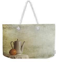 A Jugful Tea And A Orange Weekender Tote Bag by Priska Wettstein