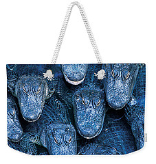Alligators Weekender Tote Bag by Gary Meszaros and Photo Researchers