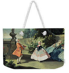 An Ornamental Garden With A Young Girl Dancing To A Fiddle Weekender Tote Bag by Filippo Falciatore
