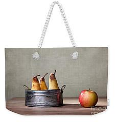 Apple And Pears 01 Weekender Tote Bag by Nailia Schwarz