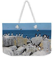 Auk Island Weekender Tote Bag by Bruce J Robinson