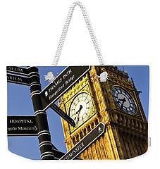 Big Ben Clock Tower Weekender Tote Bag by Elena Elisseeva