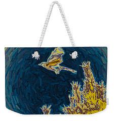 Bluejay Gone Wild Weekender Tote Bag by Trish Tritz