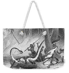 Boa Constrictor Attack Weekender Tote Bag by Granger
