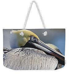 Brown Pelican Weekender Tote Bag by Adam Romanowicz