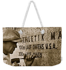 Carving The Name Of Jesse Owens Into The Champions Plinth At The 1936 Summer Olympics In Berlin Weekender Tote Bag by American School