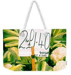 Cauliflower Weekender Tote Bag by Tom Gowanlock