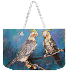 Coctaiel Parrots Weekender Tote Bag by Ylli Haruni