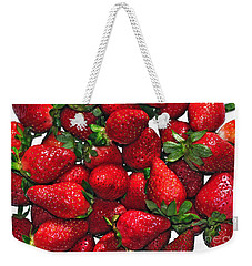 Deliciously Sweet Strawberries Weekender Tote Bag by Kaye Menner