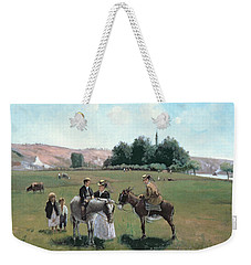 Donkey Ride Weekender Tote Bag by Camille Pissarro