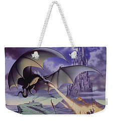 Dragon Combat Weekender Tote Bag by The Dragon Chronicles - Steve Re