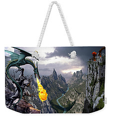 Dragon Valley Weekender Tote Bag by The Dragon Chronicles - Garry Wa