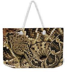 Eastern Diamondback Rattlesnake Weekender Tote Bag by Gerry Ellis