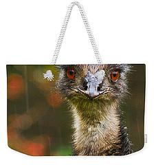 Emu In The Rain Weekender Tote Bag by Jean Noren